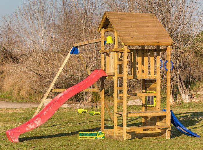 Parco di gioco masgames teide con altalena doppia e ponte for Altalena con ponte